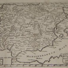 Arte: MAPA DE ESPAÑA Y PORTUGAL. 1711. A NEW MAP OF HISPANIA AND AND PORTUGALLIA BY ROB. MORDEN.. Lote 54914055