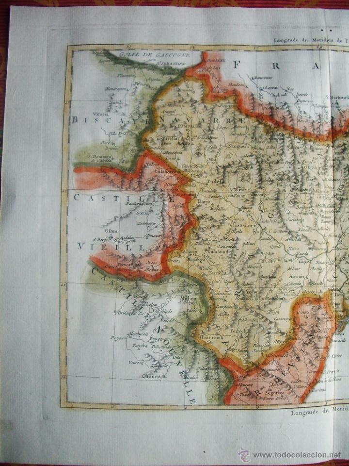 Arte: 1787-MAPA TUDELA-ZARAGOZA-TARRAGONA-MATARO-TORTOSA-BARBASTRO-PAMPLONA-DAROCA-LLEIDA-HUESCA-JACA-MUEL - Foto 2 - 55012193