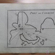 Arte: 1780 ROUX MEUCCI: MAPA PUERTO DE CARMINO, PORT DE CARMINO (GRECIA, GREECE, MAP MAPPA CARTE CARTA). Lote 55016230
