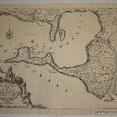 Arte: MAPA GRABADO DE LA BAHÍA DE CÁDIZ. 1695. ISLE VILLE ET PORT DE CADIS. NICOLAS DE FER. Lote 55047503