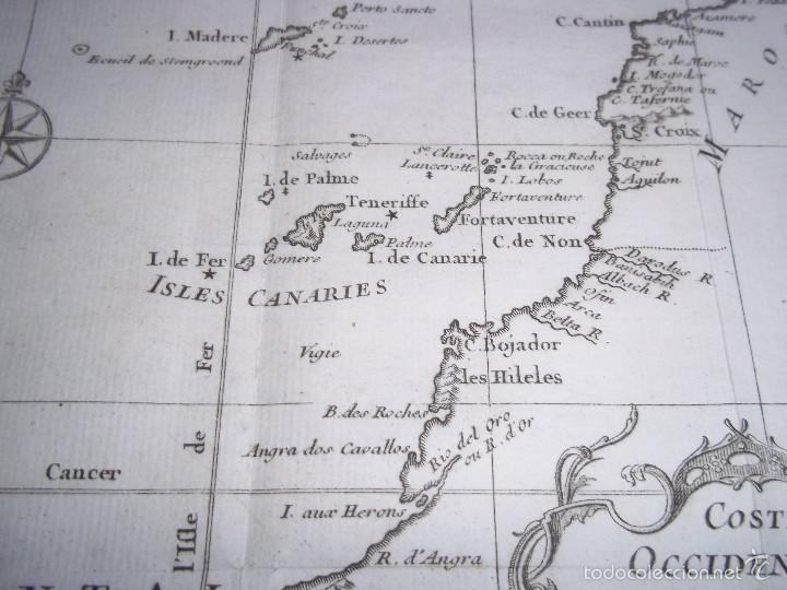 mapa costa occidental de africa islas canarias Comprar