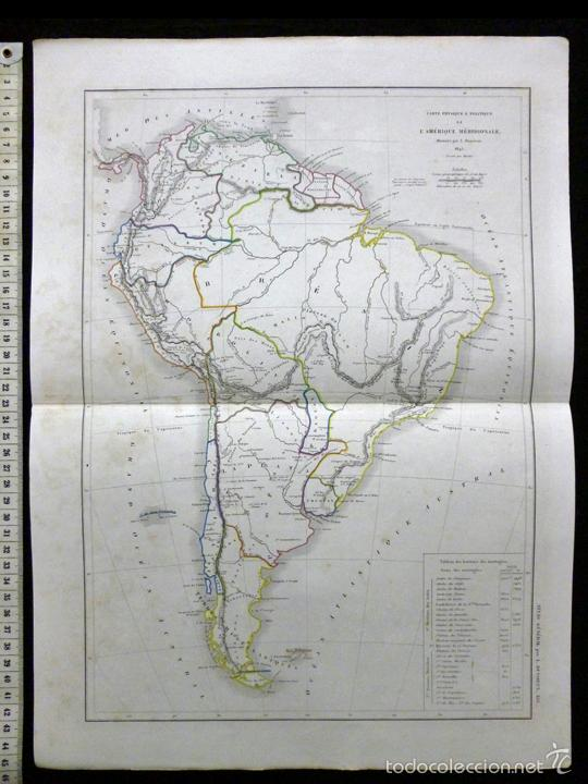 mapa de sudamérica. l. dussieux. grabado al ace - Comprar ...