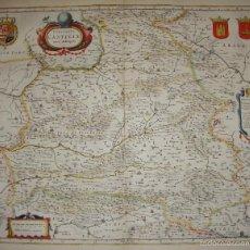 Arte: MAPA DE CASTILLA. S.XVII. UTRIUSQUE CASTILIAE NOVA DESCRIPTIO. 1635. Lote 55779096