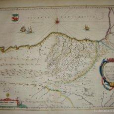 Arte: MAPA GRABADO DE VIZCAYA Y GUIPUZCOA. S.XVII. BISCAIA ET GUIPUSCOA CANTABRIAE VETERIS PAR. Lote 55779179