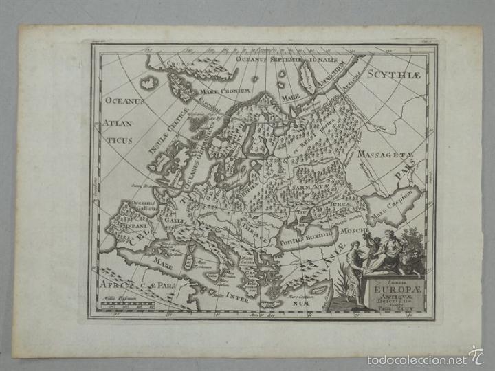 MAPA DE EUROPA ANTIGUA, 1711. P. CLUVER (Arte - Cartografía Antigua (hasta S. XIX))