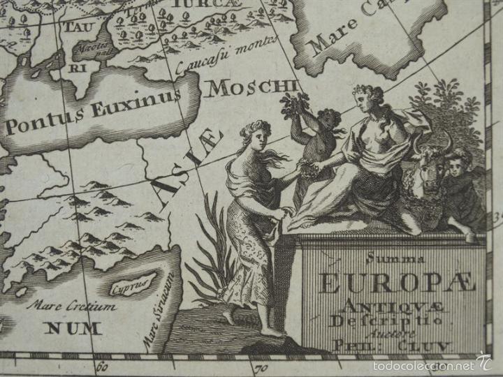 Arte: Mapa de Europa antigua, 1711. P. Cluver - Foto 2 - 55864785