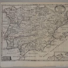 Arte: MAPA DE PORTUGAL Y ESPAÑA ANTIGUA Y NUEVA, 1695. P. CLUVER. Lote 55864840