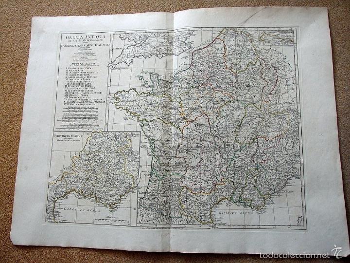 GRAN MAPA DE FRANCIA ANTIGUA, 1794. ANVILLE/ LAURIE & WHITTLE (Arte - Cartografía Antigua (hasta S. XIX))