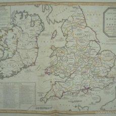 Arte: GAN MAPA DE IRLANDA E INGLATERRA, 1801. J.ENOUY /LAURIE & WHITTLE). Lote 55989055