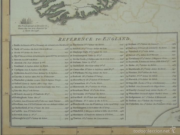 Arte: Gan mapa de Irlanda e Inglaterra, 1801. J.Enouy /Laurie & Whittle) - Foto 3 - 55989055