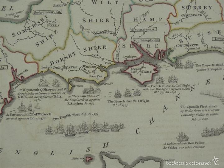 Arte: Gan mapa de Irlanda e Inglaterra, 1801. J.Enouy /Laurie & Whittle) - Foto 5 - 55989055