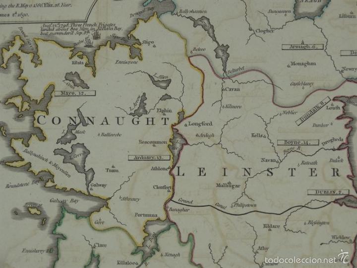 Arte: Gan mapa de Irlanda e Inglaterra, 1801. J.Enouy /Laurie & Whittle) - Foto 6 - 55989055