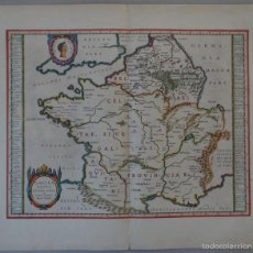 Arte: ANTIGUO MAPA DE FRANCIA, 1663. ORTELIUS. Lote 55992249
