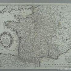 Arte: MAPA DE FRANCIA, 1740. RAPIN/TINDAL/SEALE. Lote 56085668