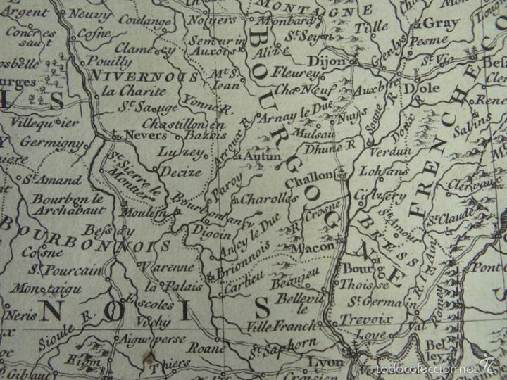 Arte: Mapa de Francia, 1740. Rapin/Tindal/Seale - Foto 3 - 56085668