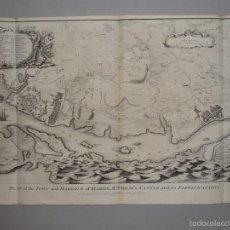 Arte: PLANO DE LA CIUDAD Y EL PUERTO DE MAHON (MENORCA, BALEARES, ESPAÑA), 1744. TINDAL/RAPIN/SEALE. Lote 56085856