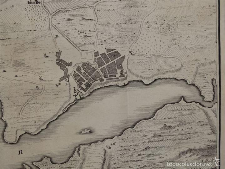 Arte: Plano de la ciudad y el puerto de Mahon (Menorca, Baleares, España), 1744. Tindal/Rapin/Seale - Foto 6 - 56085856