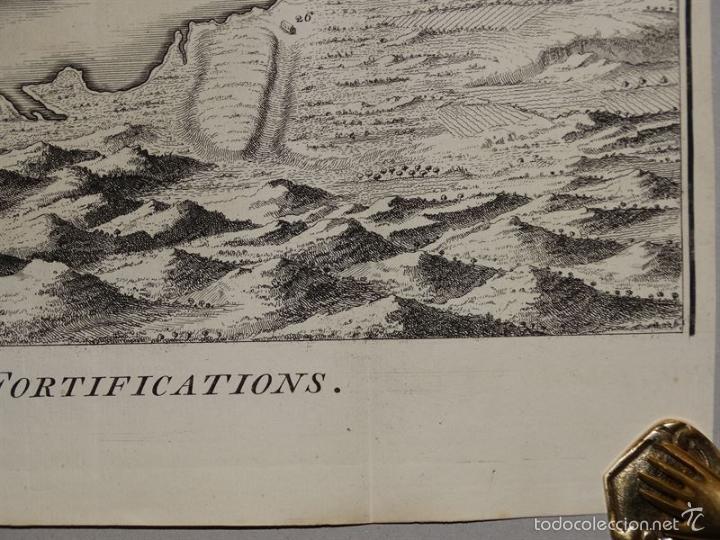 Arte: Plano de la ciudad y el puerto de Mahon (Menorca, Baleares, España), 1744. Tindal/Rapin/Seale - Foto 7 - 56085856