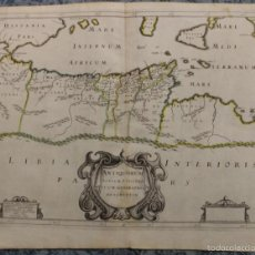 Arte: MAPA DEL MAR MEDITERRANEO Y NORTE DE ÁFRICA, 1670. MELCHIERTAVERNIER. Lote 56086109