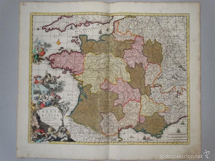 GRAN MAPA DE FRANCIA, 1660. CAROLUS ALLARD (Arte - Cartografía Antigua (hasta S. XIX))