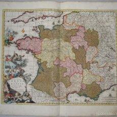 Arte: GRAN MAPA DE FRANCIA, 1660. CAROLUS ALLARD. Lote 56125201