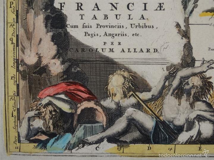 Arte: Gran mapa de Francia, 1660. Carolus Allard - Foto 4 - 56125201
