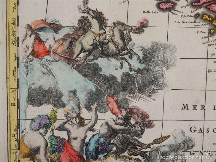 Arte: Gran mapa de Francia, 1660. Carolus Allard - Foto 5 - 56125201