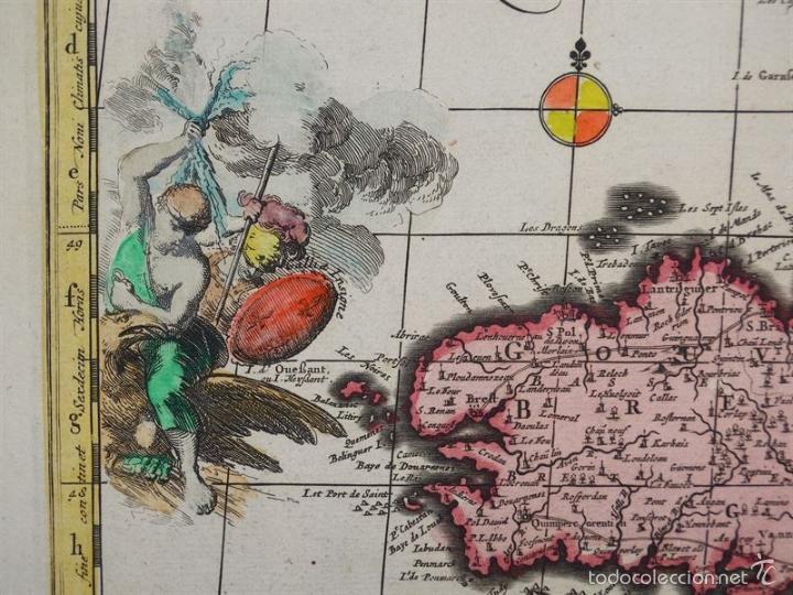 Arte: Gran mapa de Francia, 1660. Carolus Allard - Foto 6 - 56125201