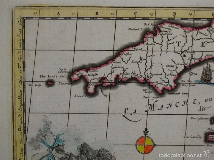 Arte: Gran mapa de Francia, 1660. Carolus Allard - Foto 7 - 56125201