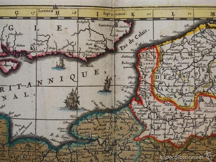 Arte: Gran mapa de Francia, 1660. Carolus Allard - Foto 8 - 56125201