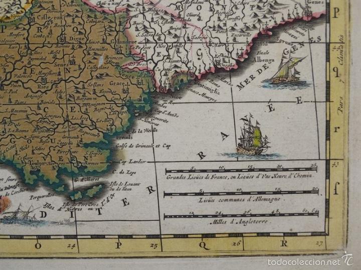 Arte: Gran mapa de Francia, 1660. Carolus Allard - Foto 11 - 56125201