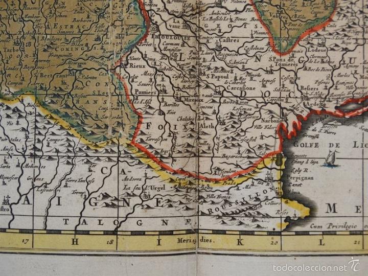 Arte: Gran mapa de Francia, 1660. Carolus Allard - Foto 12 - 56125201