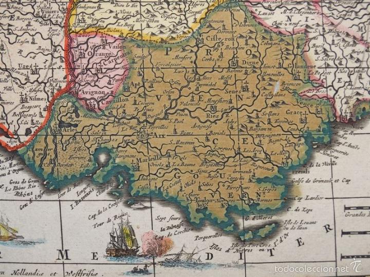 Arte: Gran mapa de Francia, 1660. Carolus Allard - Foto 13 - 56125201