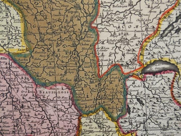 Arte: Gran mapa de Francia, 1660. Carolus Allard - Foto 14 - 56125201