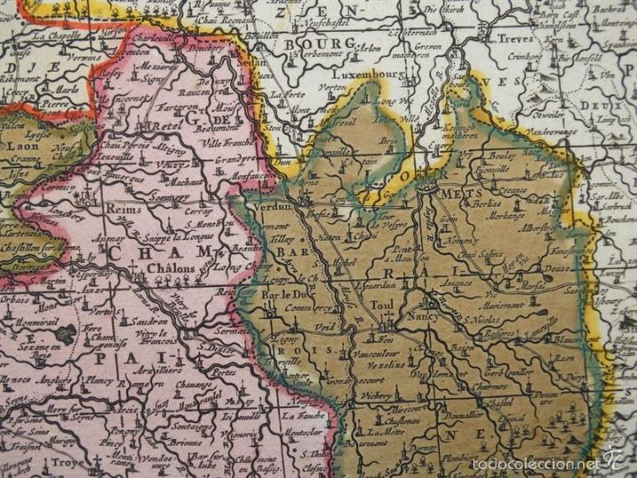 Arte: Gran mapa de Francia, 1660. Carolus Allard - Foto 15 - 56125201