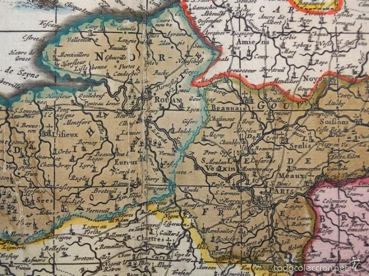 Arte: Gran mapa de Francia, 1660. Carolus Allard - Foto 16 - 56125201