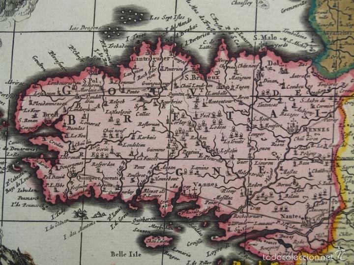 Arte: Gran mapa de Francia, 1660. Carolus Allard - Foto 17 - 56125201