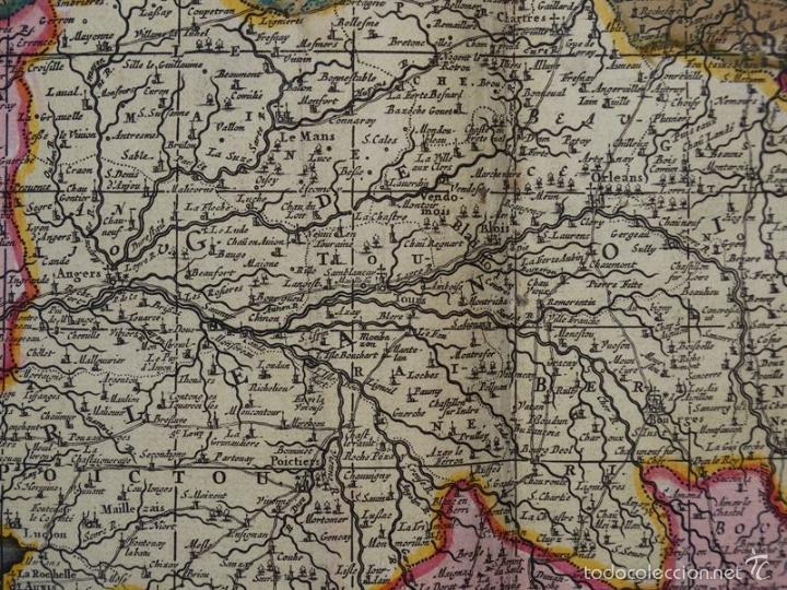 Arte: Gran mapa de Francia, 1660. Carolus Allard - Foto 18 - 56125201