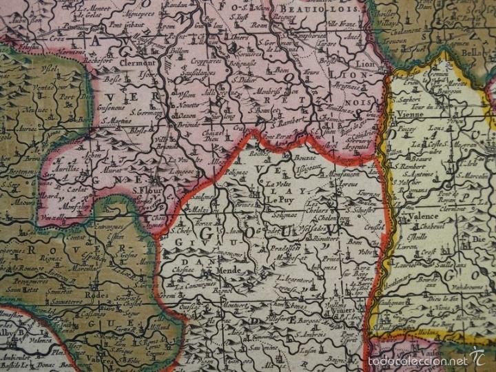 Arte: Gran mapa de Francia, 1660. Carolus Allard - Foto 19 - 56125201