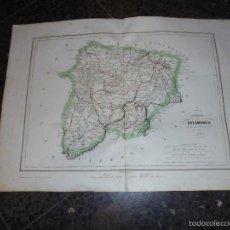 Arte: ANTIGUO MAPA - PROVINCIA DE SALAMANCA ANTIGUO REINO DE LEON GRABADO POR R. ALABERN Y E. MABON 1853. Lote 56126614
