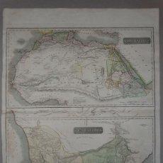 Arte: MAPA DE AFRICA DEL NORTE Y DEL SUR, 1817. THOMSON. Lote 56129484