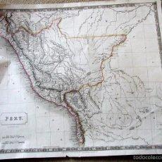 Arte: GRAN MAPA DE PERÚ (AMÉRICA DEL SUR), 1828. SIDNEY HALL. Lote 56129720