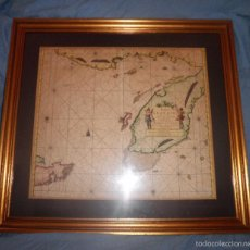 Arte: ANTIGUO MAPA GOLFO GUANAIOS CUBA - AÑO 1685 - CARTOGRAFO J.VAN KEULEN - EXPECTACULAR.. Lote 56163060
