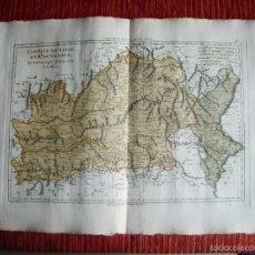 Arte: 1787-MAPA VALENCIA XATIVA CULLERA CASTELLON TRUJILLO MERIDA CUENCA DAIMIEL ALCAZAR PEÑISCOLA GANDIA. Lote 56171122
