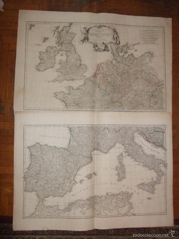 DOS GRANDES MAPAS DE EUROPA OCCIDENTAL, 1790. D'ANVILLE/SCHRAEMBL (Arte - Cartografía Antigua (hasta S. XIX))