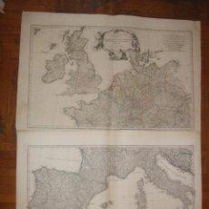 Arte: DOS GRANDES MAPAS DE EUROPA OCCIDENTAL, 1790. D'ANVILLE/SCHRAEMBL. Lote 56205219