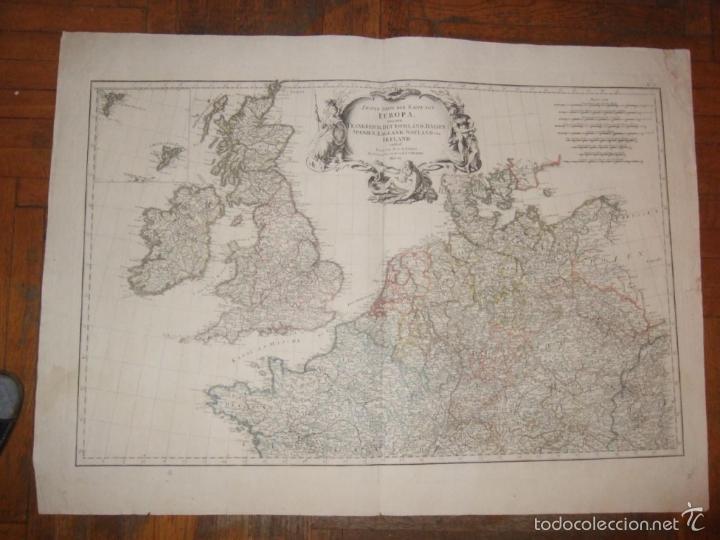Arte: Dos grandes mapas de Europa occidental, 1790. DAnville/Schraembl - Foto 2 - 56205219