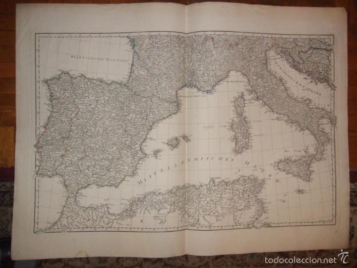 Arte: Dos grandes mapas de Europa occidental, 1790. DAnville/Schraembl - Foto 3 - 56205219