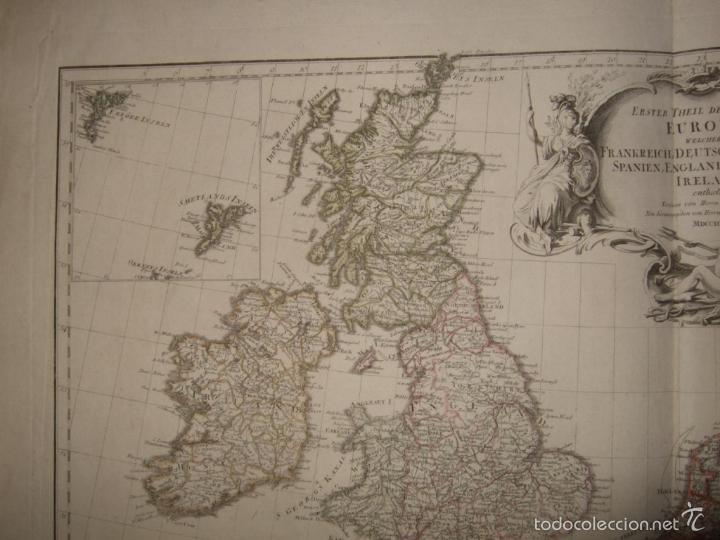 Arte: Dos grandes mapas de Europa occidental, 1790. DAnville/Schraembl - Foto 5 - 56205219