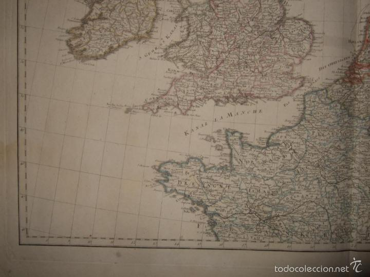 Arte: Dos grandes mapas de Europa occidental, 1790. DAnville/Schraembl - Foto 6 - 56205219